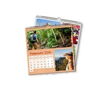 2 x 21cm x 21cm Personalised Desk or Wall Calendar incl Delivery